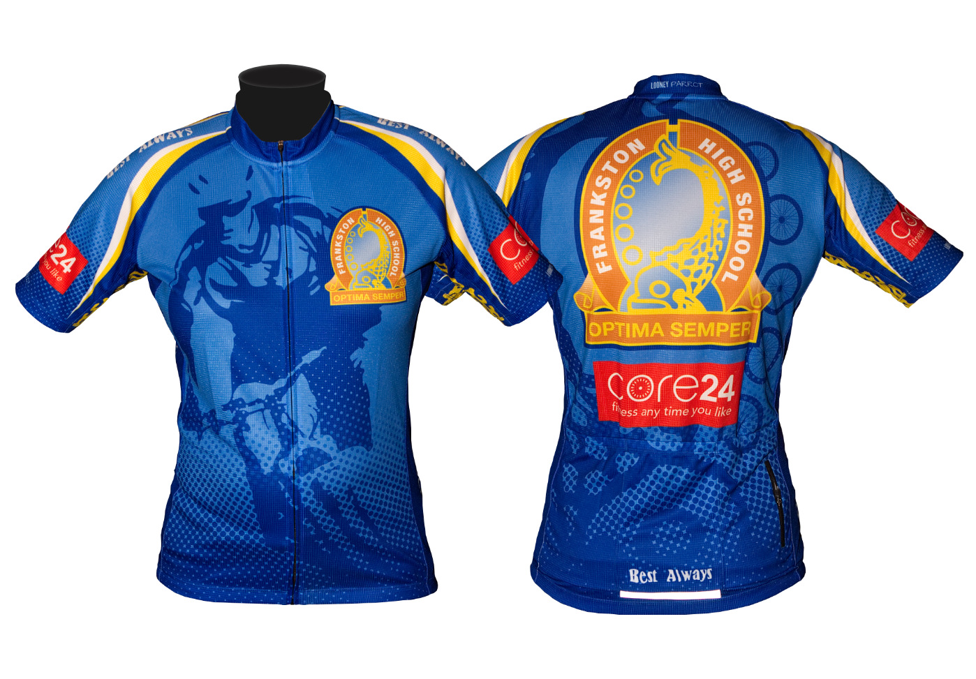 frankston high school victoria custom cycling jersey
