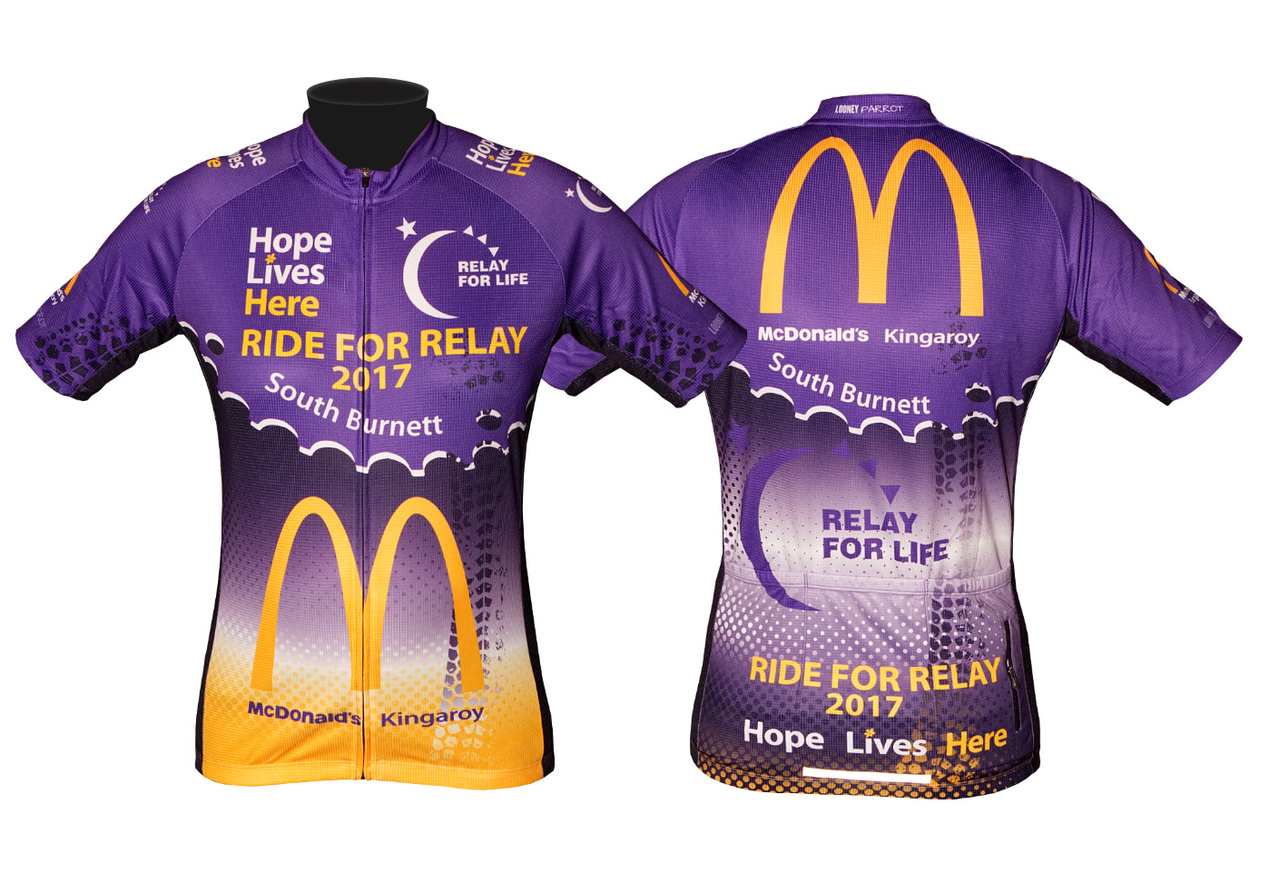 ride for relay custom cycling jersey