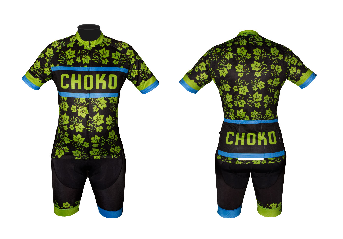 custom designed cycling jersey bib knicks shorts
