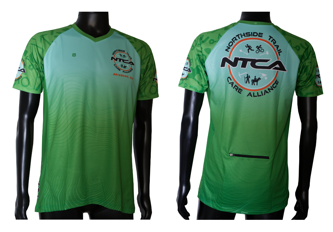 NTCA short sleeve custom designed mtb trail jersey