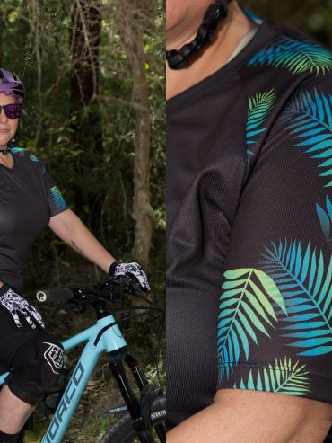 women's palms design mtb trail riding shirt
