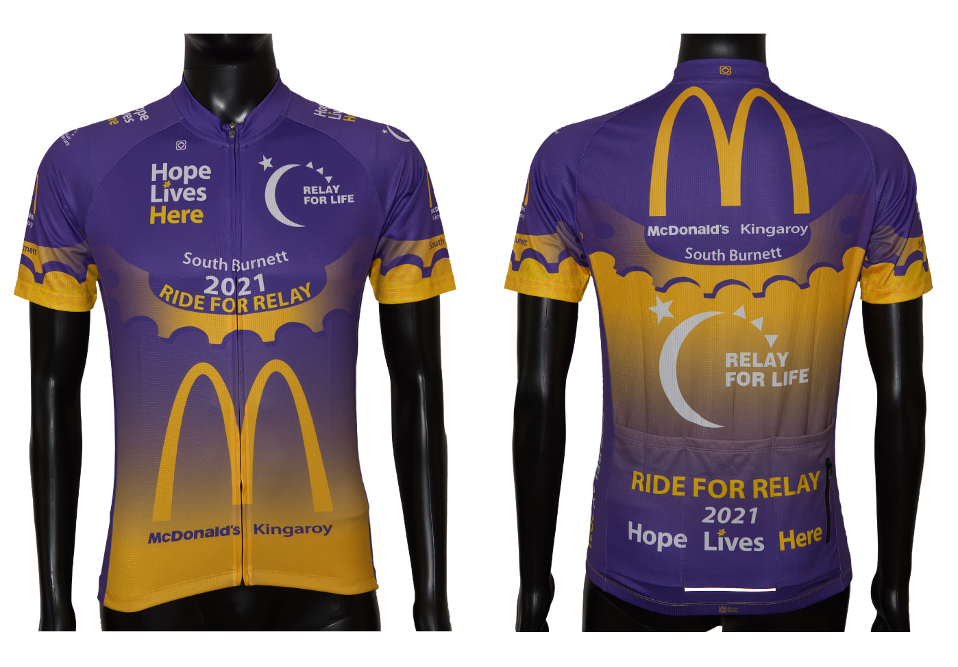 Custom designed cycling jersey shirt cancer charity ride astro visual