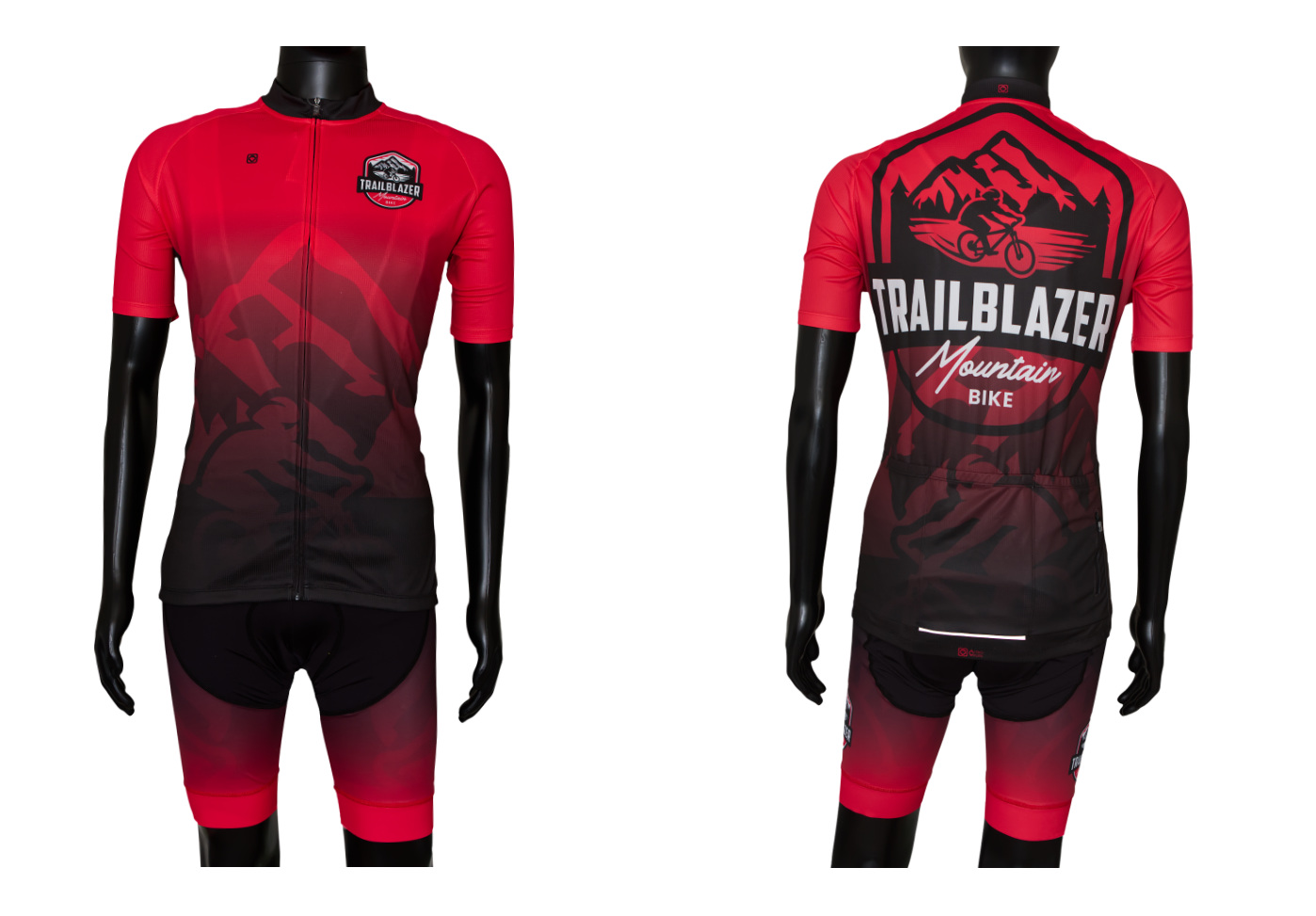 Custom designed xc cross country cycling jersey and bib_knicks